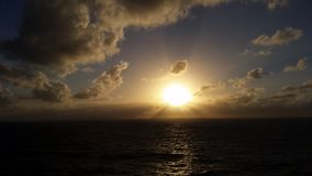 Ocean Sunset. Photo taken of the sunset from a cruise in the middle of the ocean Stock Image