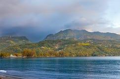 Ocean at sunset. Polynesia. Tahiti. Stock Photography