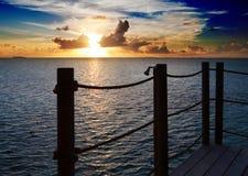 Ocean at sunset. Polynesia Stock Photography