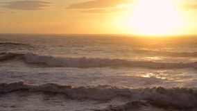 Ocean sunset scene, full HD, 30fps stock footage