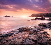 Ocean at sunset Royalty Free Stock Photos