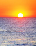 Ocean sunset Stock Images
