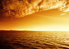 Ocean in sunset time Royalty Free Stock Photo