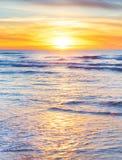 Ocean sunset, vertical Royalty Free Stock Photos