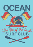 Ocean Surf Club equipment Royalty Free Stock Photos