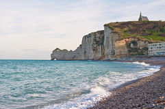 Ocean surf at Etretat, France Royalty Free Stock Image