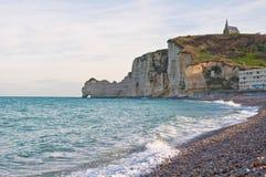 Ocean surf at Etretat, France Royalty Free Stock Image