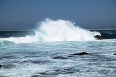 Ocean surf off, Monterey California Stock Photos