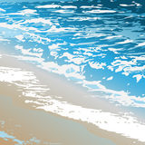 Ocean_surf. Vector texture of the ocean shore and surging wave Royalty Free Stock Photo