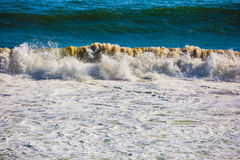Ocean surf with white waves Stock Image