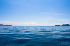 Ocean surface and blue sky Stock Photography