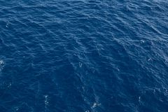 Ocean surface, sea water in the blue ocean. Background stock image