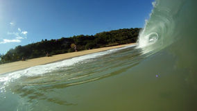 Ocean Surfing Waves Breaks Over the Camera in Hawaii stock video footage