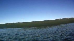 Ocean Surfing Waves Breaks Over the Camera in Hawaii stock video