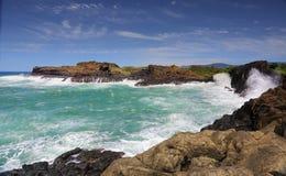 Ocean Swell Bombo Headlands Kiama Stock Photography