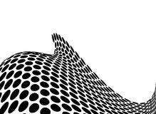 Ocean swell halftone. Illustrated abstract ocean background in mono black and white Royalty Free Stock Photography