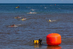 Ocean swim competition Stock Photos