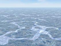 Ocean swirled - 3D render Stock Images