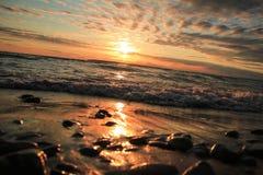 Ocean Taken Photo during Sunset Royalty Free Stock Photo