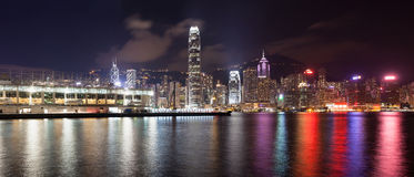 Ocean Terminal with Hong Kong City Skyline Stock Photos