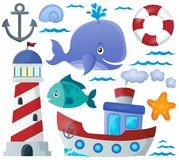 Ocean theme collection 1 Stock Images