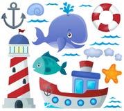 Ocean theme collection 1 vector illustration