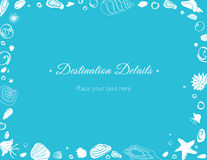 Ocean Theme Direction Card royalty free stock photography