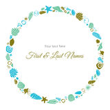 Ocean Theme Invitation Border Royalty Free Stock Photos