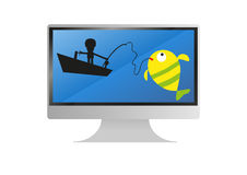 Ocean theme  monitor Stock Image