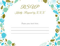 Ocean Theme RSVP Card Royalty Free Stock Image