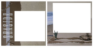 Ocean Theme Scrapbook Frame Template Stock Photo
