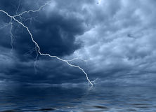 Ocean thunderstorm A Stock Image