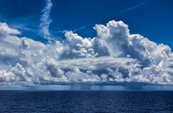 Ocean Thunderstorm with Cumulonimbus Clouds and Rain Royalty Free Stock Photo