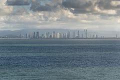 Panama City marina from Island Princess anchored off Puerto Amador Marina stock image