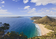 Ocean Tomaree Day wide Stock Photo