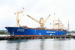 Ocean transportation boat in Nabire Royalty Free Stock Image