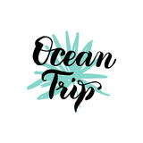 Ocean Trip Lettering Royalty Free Stock Photos