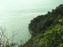 Ocean and tropical nature. A view of the ocean and tropical nature stock photography