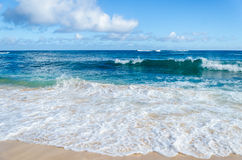 Ocean and tropical sandy beach background Stock Images