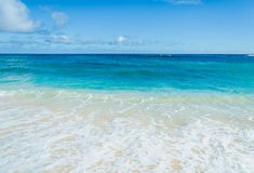 Ocean and tropical sandy beach background Stock Photos