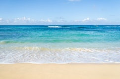 Ocean and tropical sandy beach background Stock Image