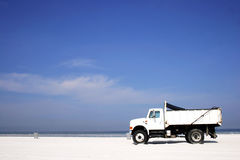 Ocean Truck. Truck on the beach Royalty Free Stock Photography