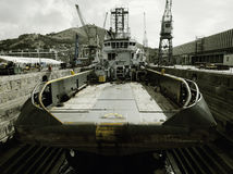 Ocean tug at dry dock Royalty Free Stock Photos