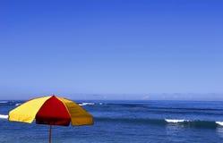 Ocean with Umbrella Royalty Free Stock Image