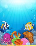 Ocean underwater theme background 5 Stock Image