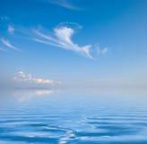 Ocean view. Cloud in sky and water Stock Image