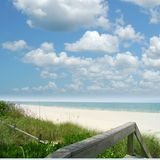 Ocean View. View of the ocean from a boardwalk royalty free stock photography
