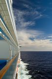Ocean View. The cabin view of calm seas aboard a luxury cruise ship Royalty Free Stock Images