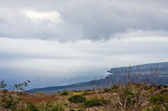 Ocean View. View of Ocean from Hawaii Volcanoes National Park Royalty Free Stock Photography