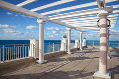 Ocean view. Cliff-top terrace looking out over a tropical ocean Stock Photography